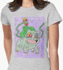 Blubasaur Womens Fitted T-Shirt