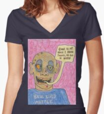 blue lifes matter Women's Fitted V-Neck T-Shirt