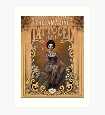 The Amazing Tattooed Lady Art Print
