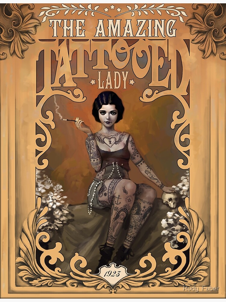 The Amazing Tattooed Lady by rudyfaber