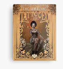 The Amazing Tattooed Lady Metal Print