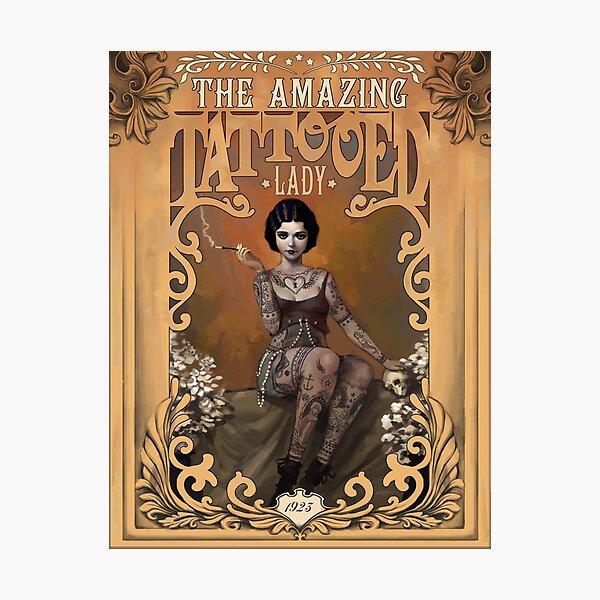 The Amazing Tattooed Lady Photographic Print