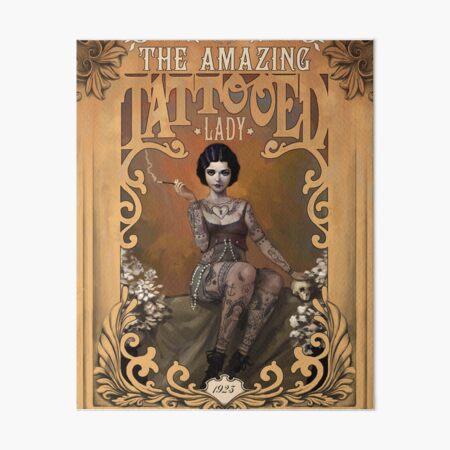 The Amazing Tattooed Lady Art Board Print