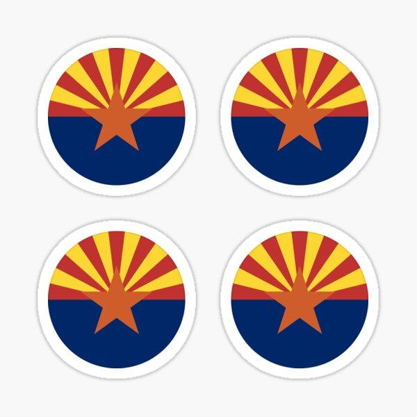 Arizona AZ State Flag Circle Round Sticker