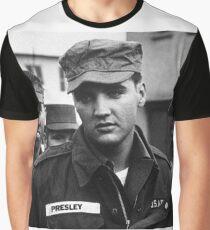 Elvis Presley Military Graphic T-Shirt