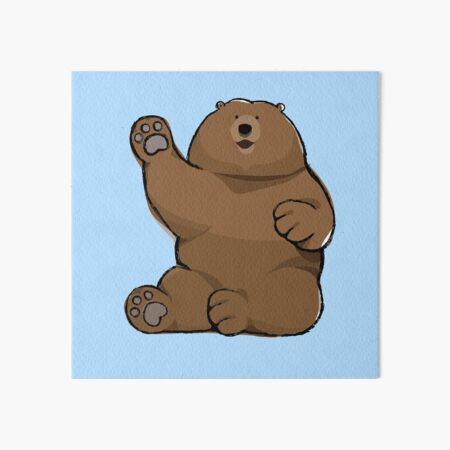 Waving Bear Art Board Print