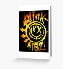 Blink 182 Yellow Fire Greeting Card