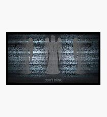 Weeping Angels and Static Photographic Print
