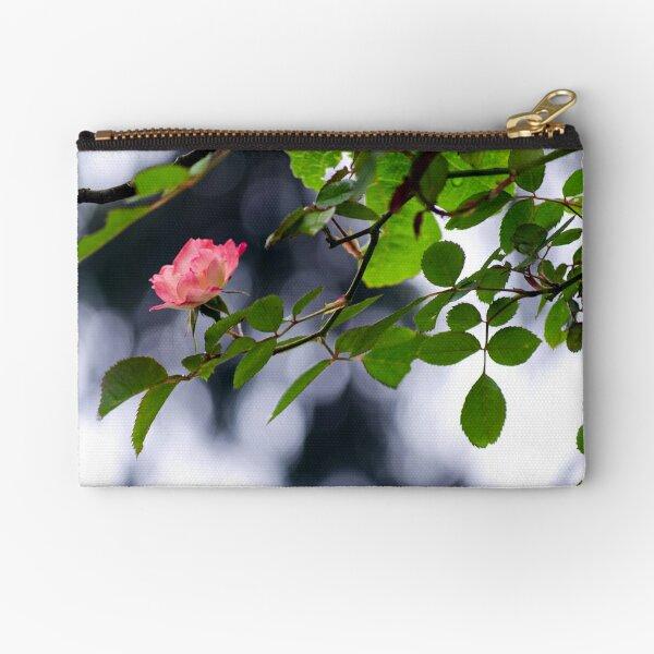 Spring Morning Rose Zipper Pouch