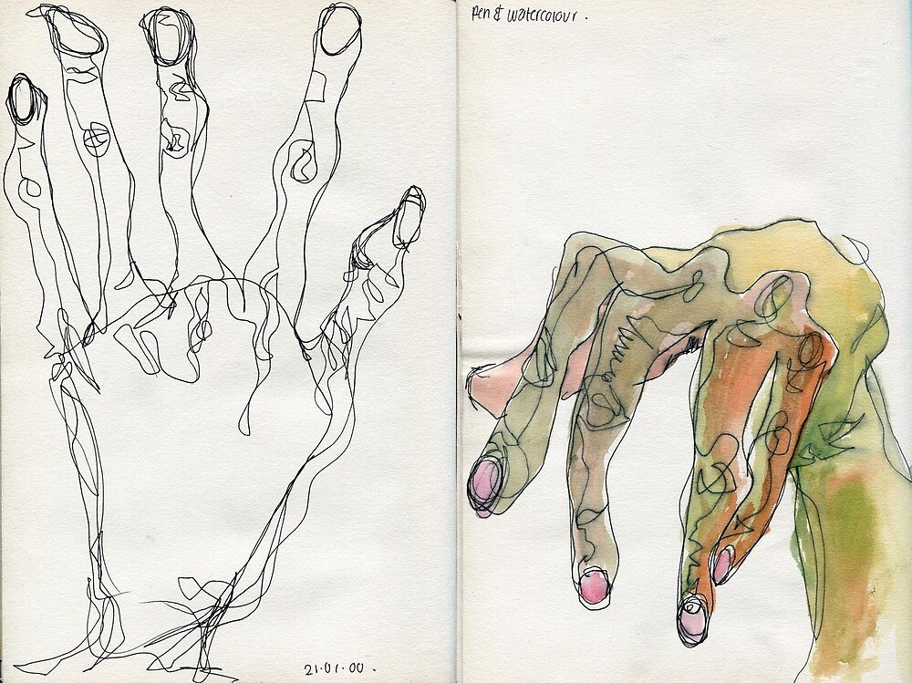 Egon Schiele Hands by noahcharrell