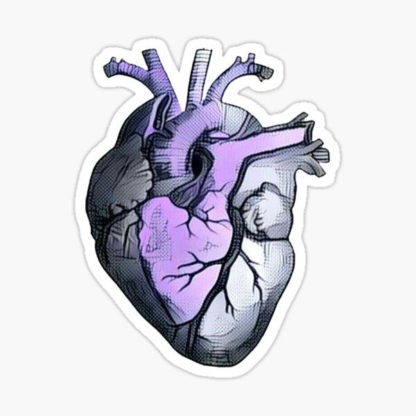 Anatomical Heart ALTERED Lavender Sticker