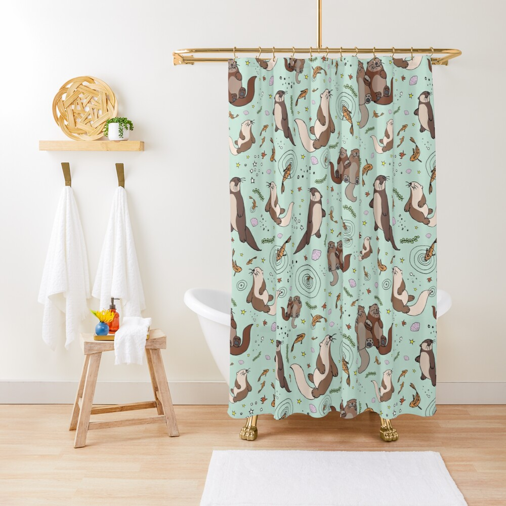 Sea Otters Shower Curtain