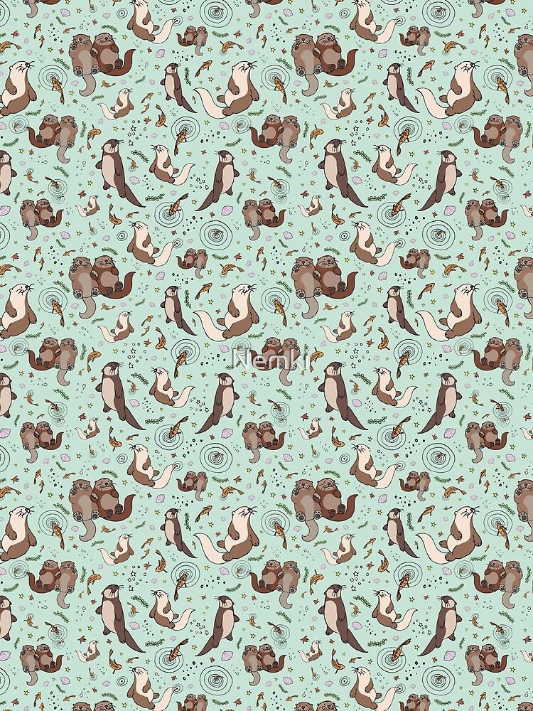 Sea Otters by Nemki