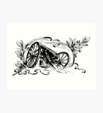 Broken Cannon Art Print
