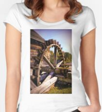 Iron works mill Women's Fitted Scoop T-Shirt