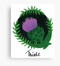 Thistle Botanical Painting Canvas Print