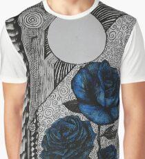 Blue Roses and Vertebrae  Graphic T-Shirt