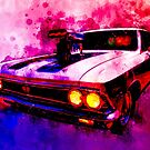 Muscular SS 396 Chevelle Watercolour by ChasSinklier