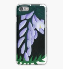 Wisteria Botanical Painting iPhone Case/Skin