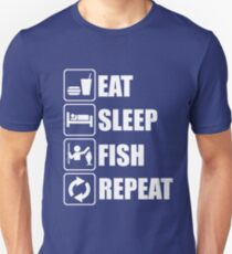 Eat Sleep Fish Repeat Unisex T-Shirt