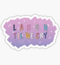Laugh Til We Cry Paramore, Grudges  Sticker