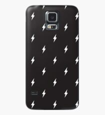 Lightning Bolt Muster Schwarz und Weiß Hülle & Skin für Samsung Galaxy