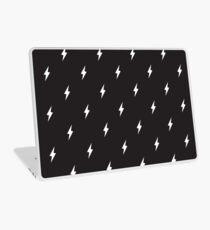 Lightning Bolt Muster Schwarz und Weiß Laptop Folie