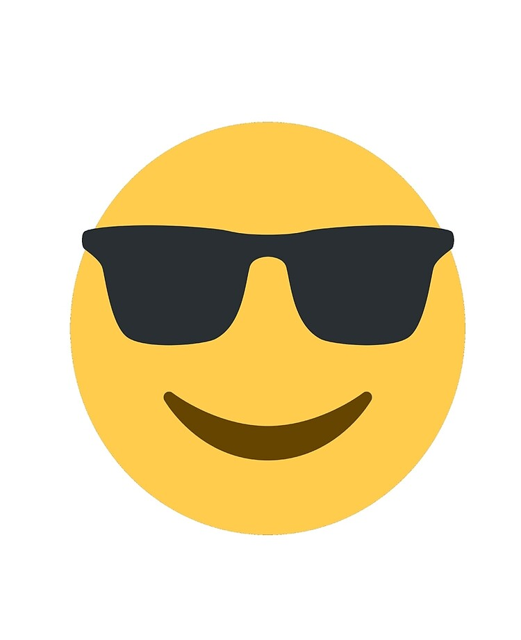 "Sunglasses (Cool) Emoji Smiley Face"" iPad Case & Skin by stevesemojis 