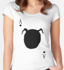 Do You Know What This Is? (Owl Petroglyph Playing Card) Women's Fitted Scoop T-Shirt