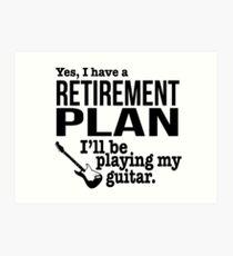 Guitar Retirement Art Print