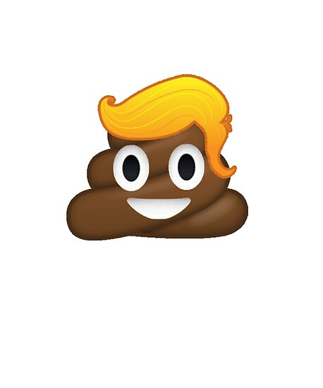 72626513197725 Donald Trump Poop Emoji Blonde Yellow Hair