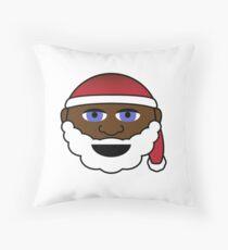 Black Santa Claus Hat Christmas Xmas Beard Throw Pillow