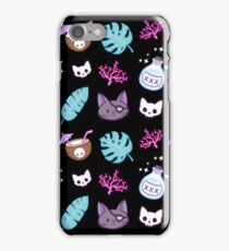 Pirate Cat // Black iPhone Case/Skin