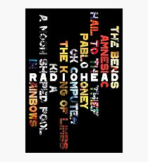 Radiohead - Album Design (Vertical #1) Photographic Print