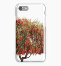 lonely tree with red flowers against the sky iPhone Case/Skin
