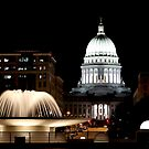 Wisconsin State Capitol building at night by Maryna Gumenyuk