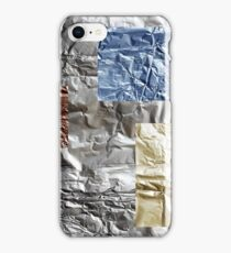 packaging for chocolate - a sheet of aluminum foil iPhone Case/Skin