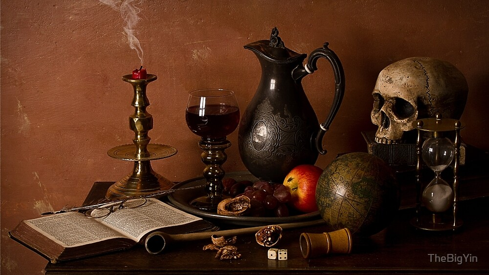 Vanitas With Port and Walnuts by TheBigYin