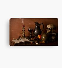 Vanitas With Port and Walnuts Canvas Print