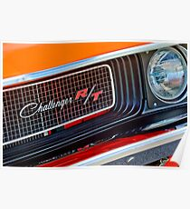 Dodge Challenger RT Grill Emblem -0046c Poster