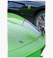 Lamborghini - Ferrari Emblems -0736c Poster
