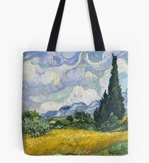 Van Gogh, Wheat Field with Cypresses 1889 Tote Bag