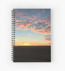Sunrise with colourful clouds Spiral Notebook