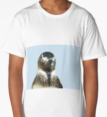 penguin close-up head  isolated object Long T-Shirt