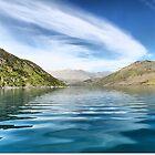 Wanaka Blue ( 6 ) Making Ripples on a Reflecting Sky by Larry Lingard-Davis