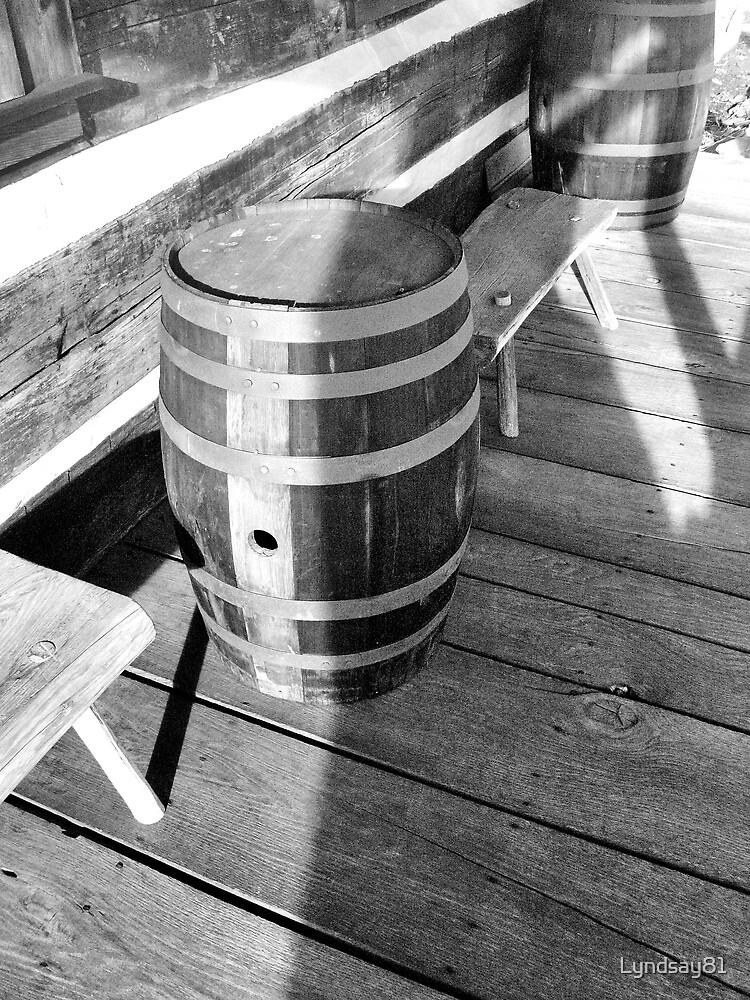 Half Shadow on the Barrel  by Lyndsay81
