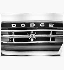1960 Dodge Truck Grille Emblem - 0275bw Poster