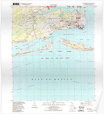 USGS TOPO Map Florida FL Fort Barrancas 346201 1994 24000 Poster
