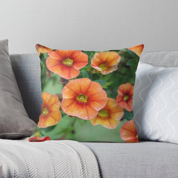 Orange Riot Throw Pillow