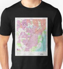 USGS TOPO Map Florida FL South Miami 348563 1956 24000 Unisex T-Shirt